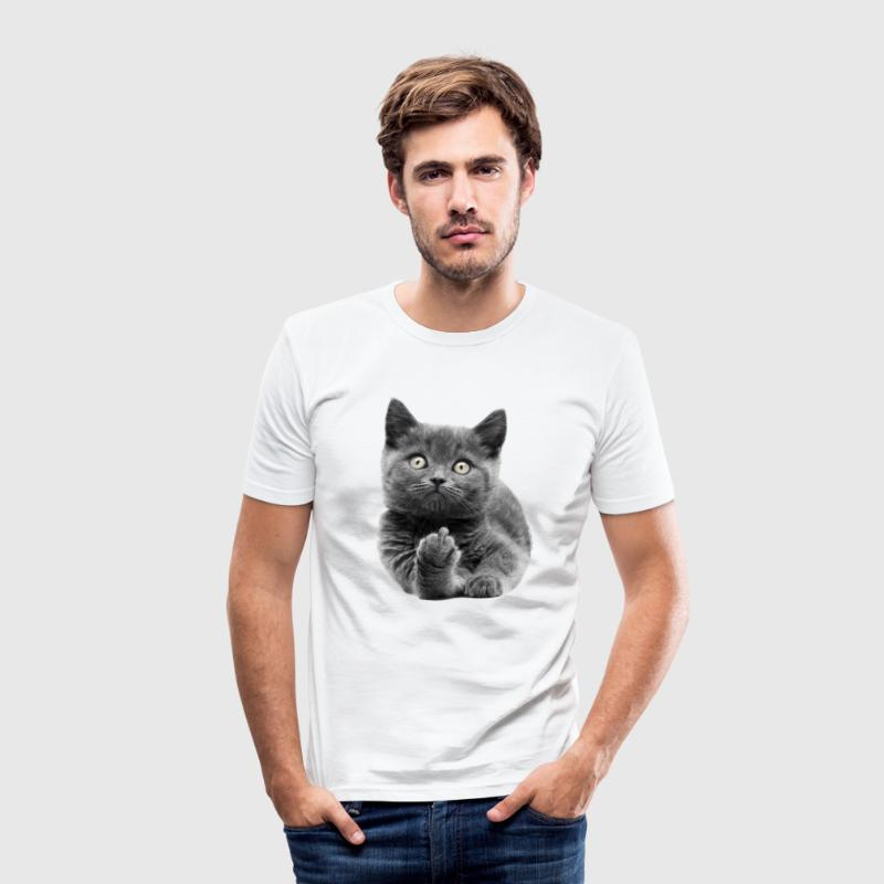 Fuck Off Cat  T-Shirts - Männer Slim Fit T-Shirt