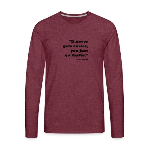 Faster like Lemond Mug - Men's Premium Longsleeve Shirt