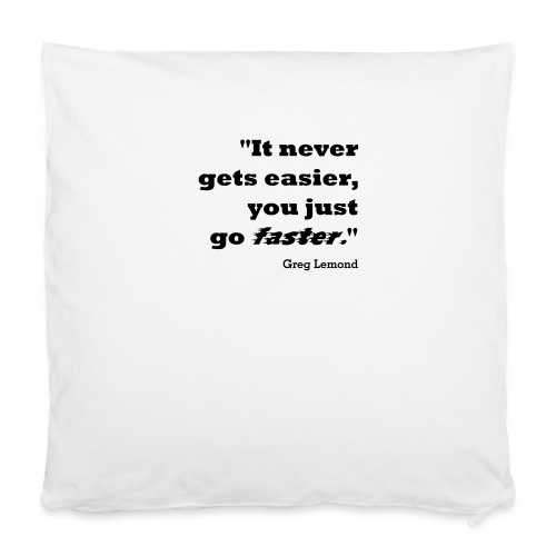 "Faster like Lemond Mug - Pillowcase 16"" x 16"" (40 x 40 cm)"