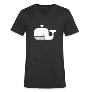 Ben der Blauwal  - Männer Bio-T-Shirt mit V-Ausschnitt von Stanley & Stella