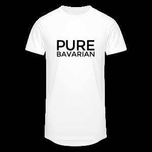 Pure Bavarian T-Shirt (Herren Weiß) - Männer Urban Longshirt