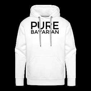 Pure Bavarian T-Shirt (Herren Weiß) - Männer Premium Hoodie