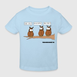 Cartoon Baby Body Uhus - Kinder Bio-T-Shirt