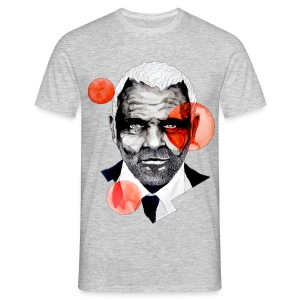 Charming Lecter Portrait Illustration, carographic - Männer T-Shirt