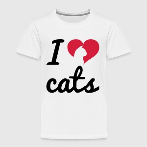 Fancy I Love Cats  Tröjor - Premium-T-shirt barn