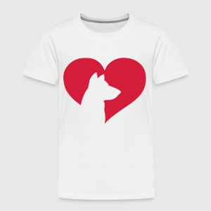 Dog Heart  Tröjor - Premium-T-shirt barn