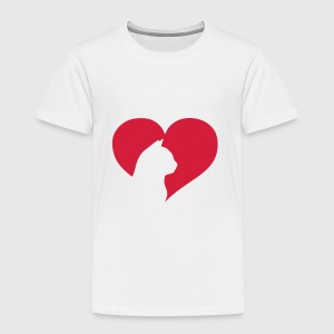 Cat Heart  Accessoarer - Premium-T-shirt barn