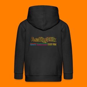 Grotesk tee shirt - Kids' Premium Zip Hoodie