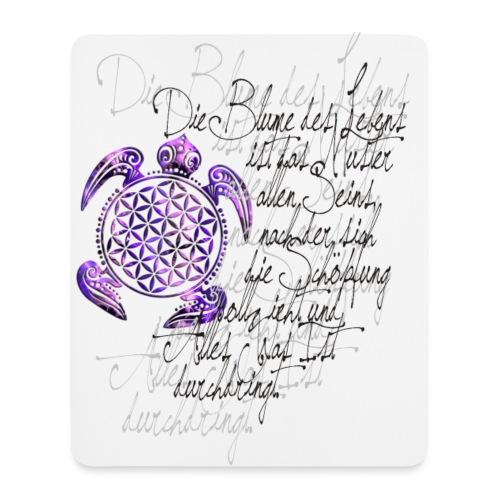 Blume des Lebens Schildkröte - Mousepad (Hochformat)