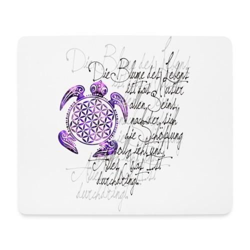 Blume des Lebens Schildkröte - Mousepad (Querformat)
