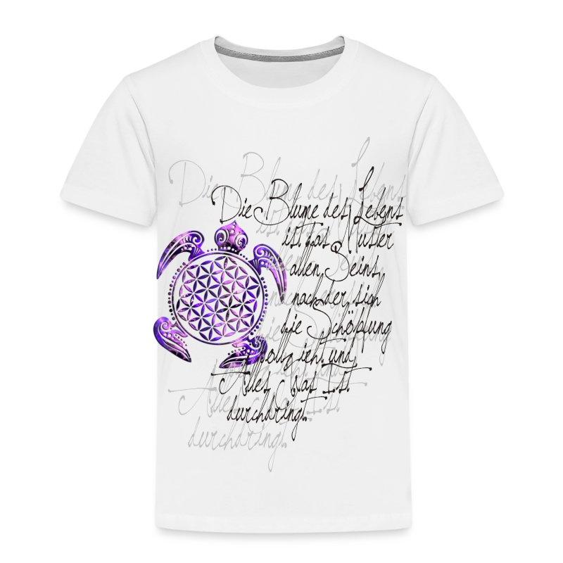 Blume des Lebens Schildkröte - Kinder Premium T-Shirt
