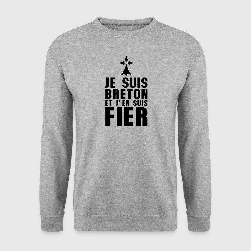 je suis breton fier hermine 303 Sweat-shirts - Sweat-shirt Homme