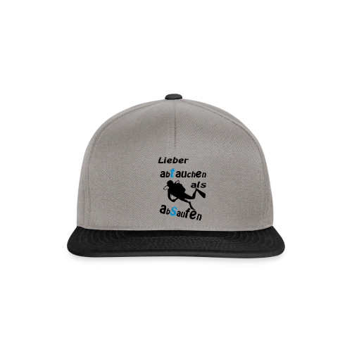 Lieber abtauchen als absaufen - Snapback Cap