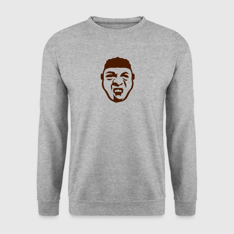 tete personnage gueule ouverte dessin Sweat-shirts - Sweat-shirt Homme