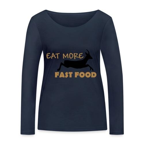 Schürze Fast Food - Frauen Bio-Langarmshirt von Stanley & Stella