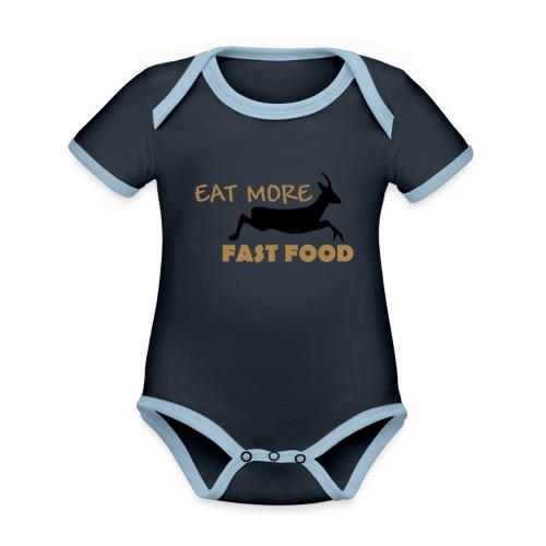Schürze Fast Food - Baby Bio-Kurzarm-Kontrastbody