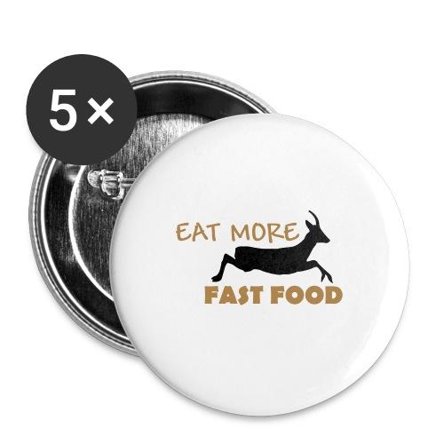 Schürze Fast Food - Buttons mittel 32 mm