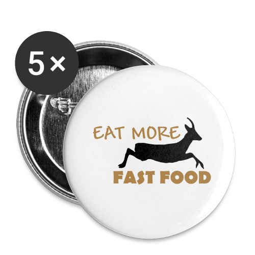 Schürze Fast Food - Buttons klein 25 mm