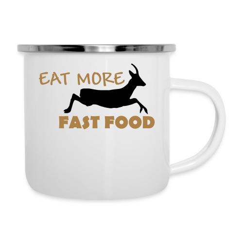 Schürze Fast Food - Emaille-Tasse