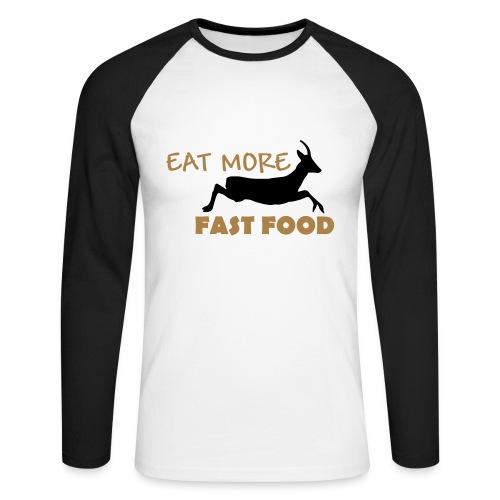 Schürze Fast Food - Männer Baseballshirt langarm