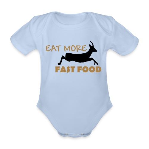 Schürze Fast Food - Baby Bio-Kurzarm-Body