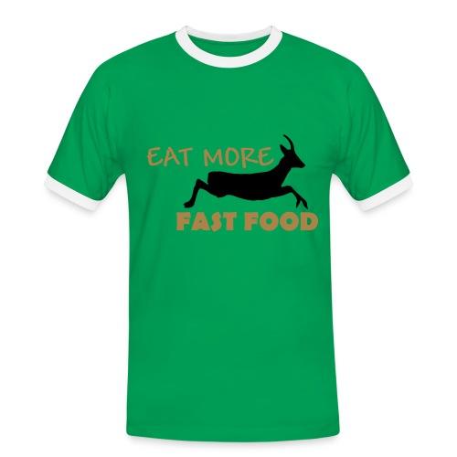 Schürze Fast Food - Männer Kontrast-T-Shirt