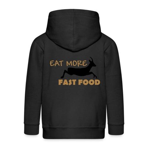 Schürze Fast Food - Kinder Premium Kapuzenjacke