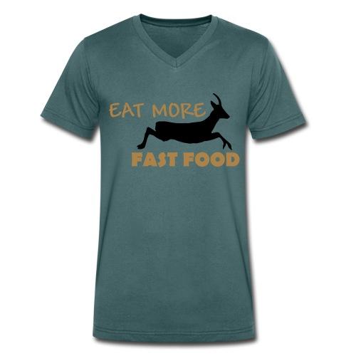 Schürze Fast Food - Männer Bio-T-Shirt mit V-Ausschnitt von Stanley & Stella