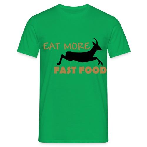 Schürze Fast Food - Männer T-Shirt
