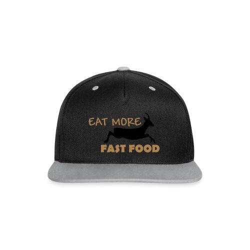 Schürze Fast Food - Kontrast Snapback Cap
