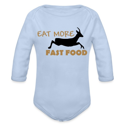 Schürze Fast Food - Baby Bio-Langarm-Body