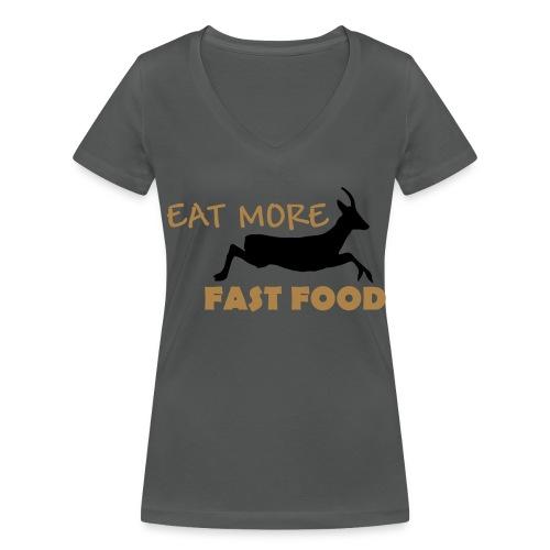 Schürze Fast Food - Frauen Bio-T-Shirt mit V-Ausschnitt von Stanley & Stella
