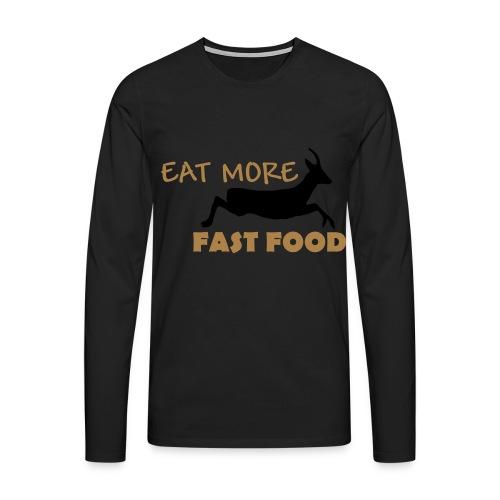 Schürze Fast Food - Männer Premium Langarmshirt