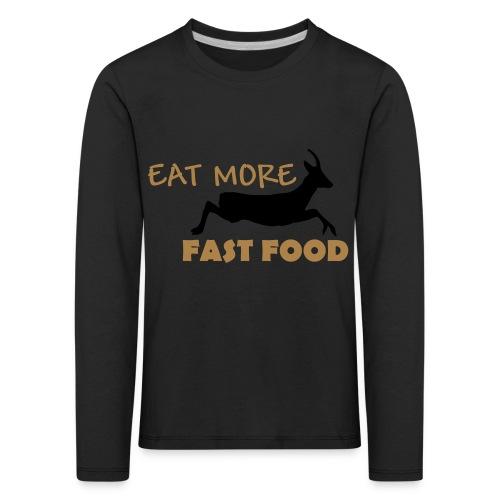 Schürze Fast Food - Kinder Premium Langarmshirt