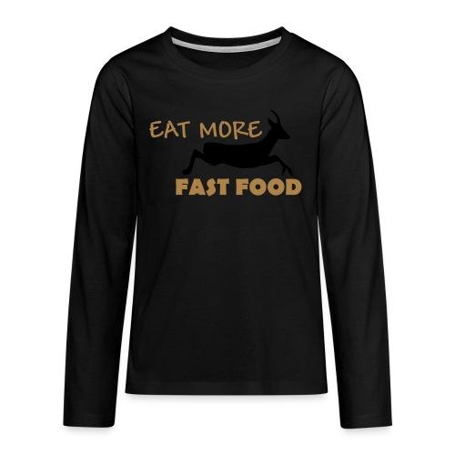 Schürze Fast Food - Teenager Premium Langarmshirt