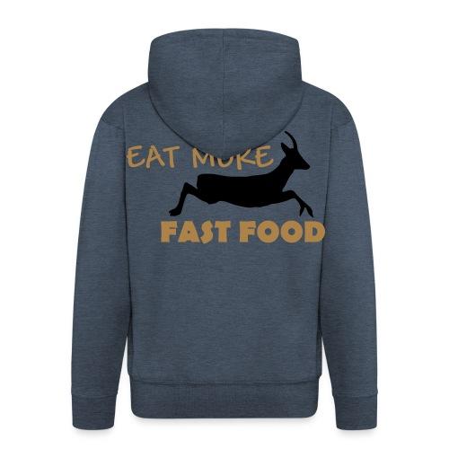 Schürze Fast Food - Männer Premium Kapuzenjacke