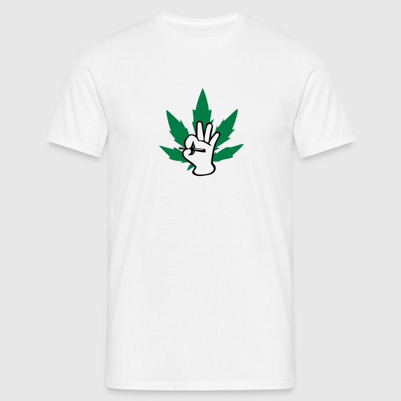Marijuhana Joint Logo T-Shirts - Men's T-Shirt