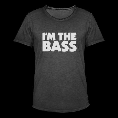 I'm the Bass T-Shirt (Schwarz/Weiß) - Männer Vintage T-Shirt