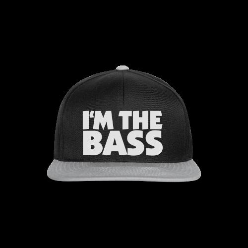 I'm the Bass T-Shirt (Schwarz/Weiß) - Snapback Cap