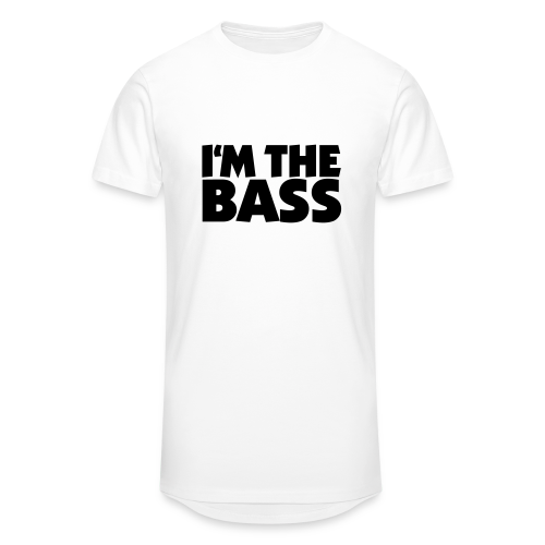 I'm the Bass T-Shirt (Weiß/Schwarz) - Männer Urban Longshirt