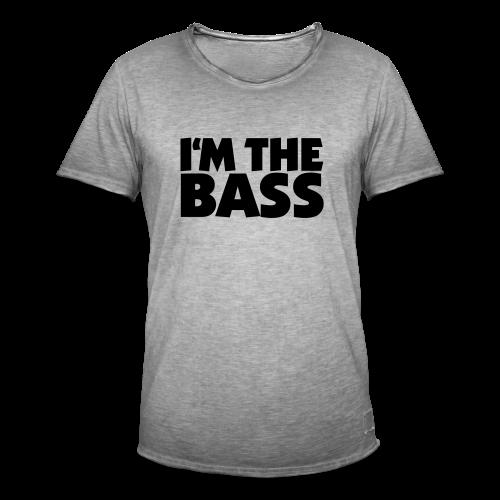 I'm the Bass T-Shirt (Weiß/Schwarz) - Männer Vintage T-Shirt