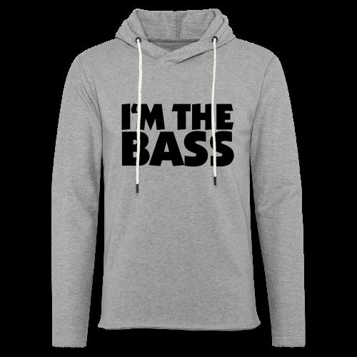 I'm the Bass T-Shirt (Weiß/Schwarz) - Leichtes Kapuzensweatshirt Unisex
