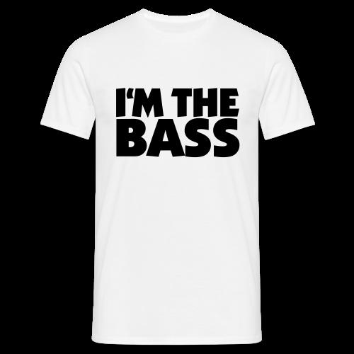 I'm the Bass T-Shirt (Weiß/Schwarz) - Männer T-Shirt