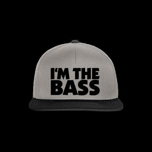 I'm the Bass T-Shirt (Weiß/Schwarz) - Snapback Cap