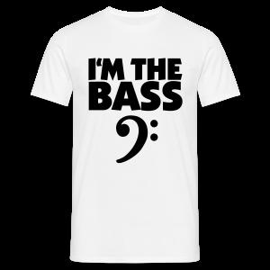 I'm the Bass Bassschlüssel S-5XL T-Shirt - Männer T-Shirt