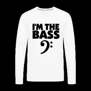 I'm the Bass Bassschlüssel S-5XL T-Shirt - Männer Premium Langarmshirt