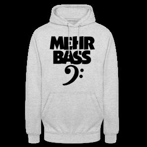 Mehr Bass T-Shirt (Weiß/Schwarz) - Unisex Hoodie