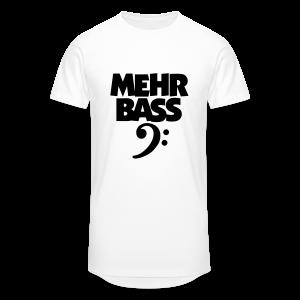 Mehr Bass T-Shirt (Weiß/Schwarz) - Männer Urban Longshirt