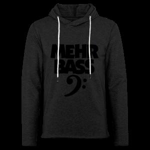 Mehr Bass T-Shirt (Weiß/Schwarz) - Leichtes Kapuzensweatshirt Unisex
