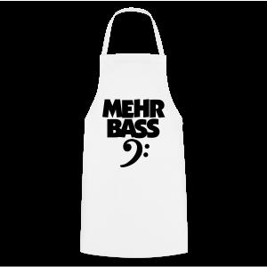 Mehr Bass T-Shirt (Weiß/Schwarz) - Kochschürze